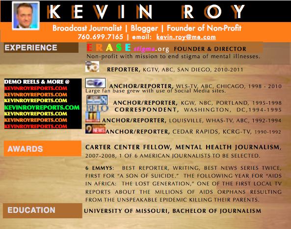 TV News Anchor, Reporter U0026 Host Kevin Royu0027s Resume